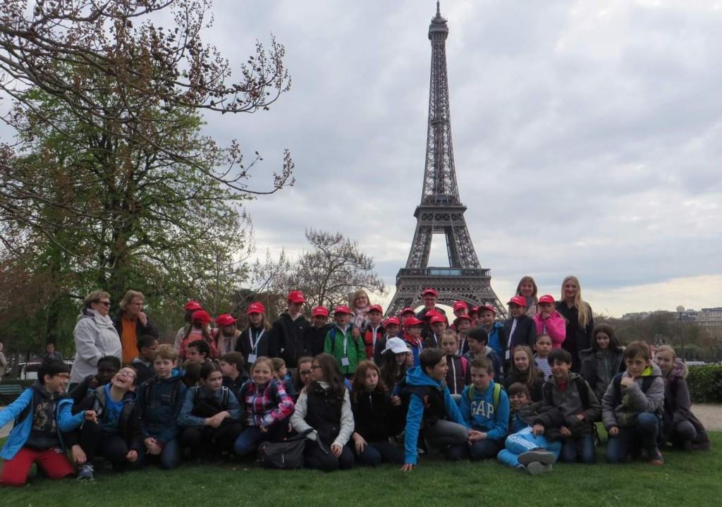Grundschlüler in Paris
